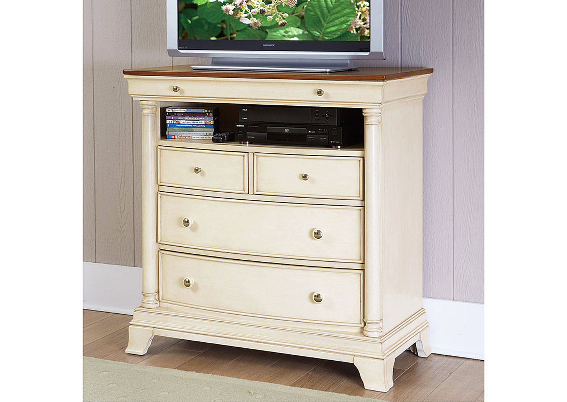 Inglewood II White TV Chest,Homelegance