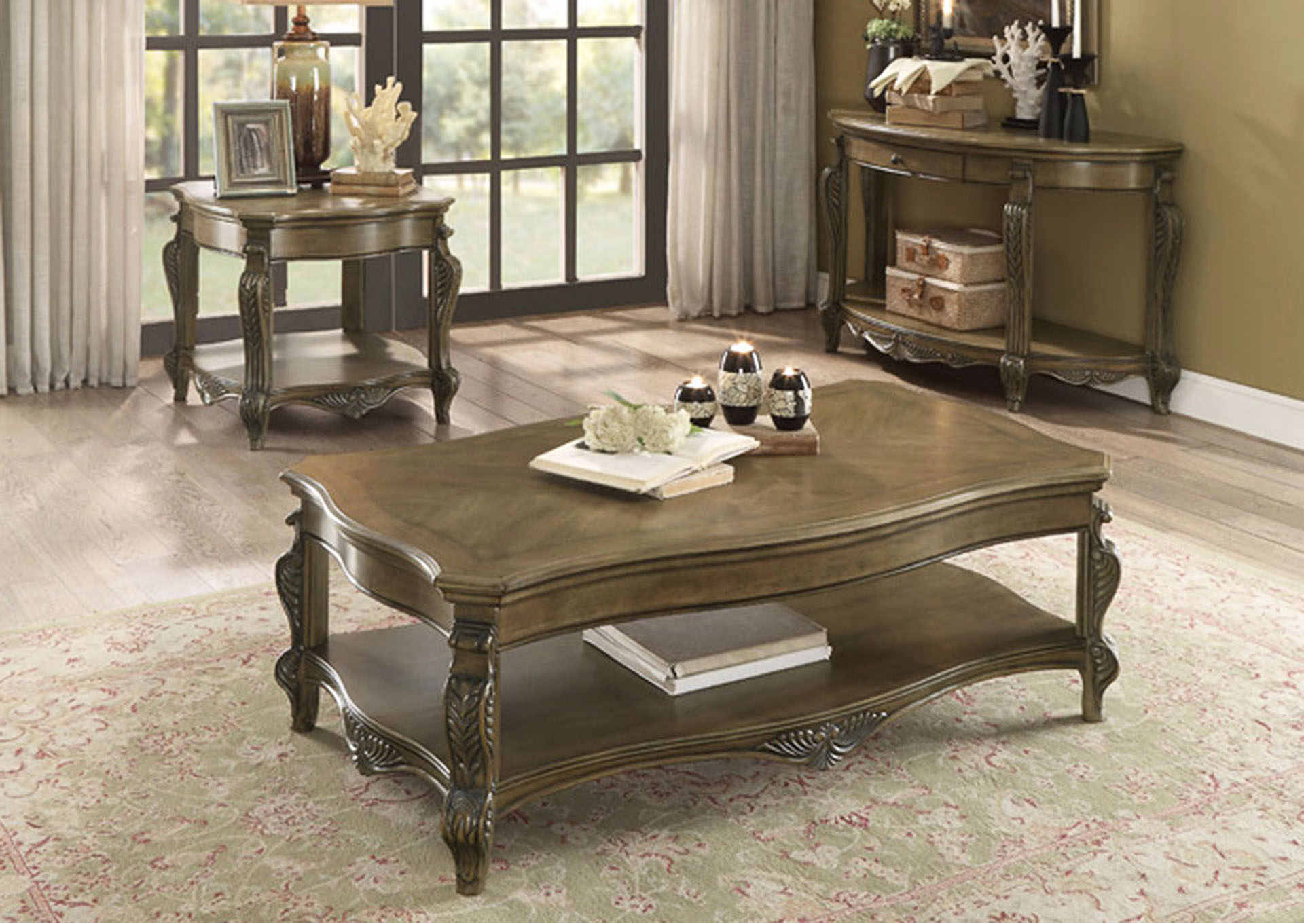 Sofa Table w/1 Functional Drawer,Homelegance