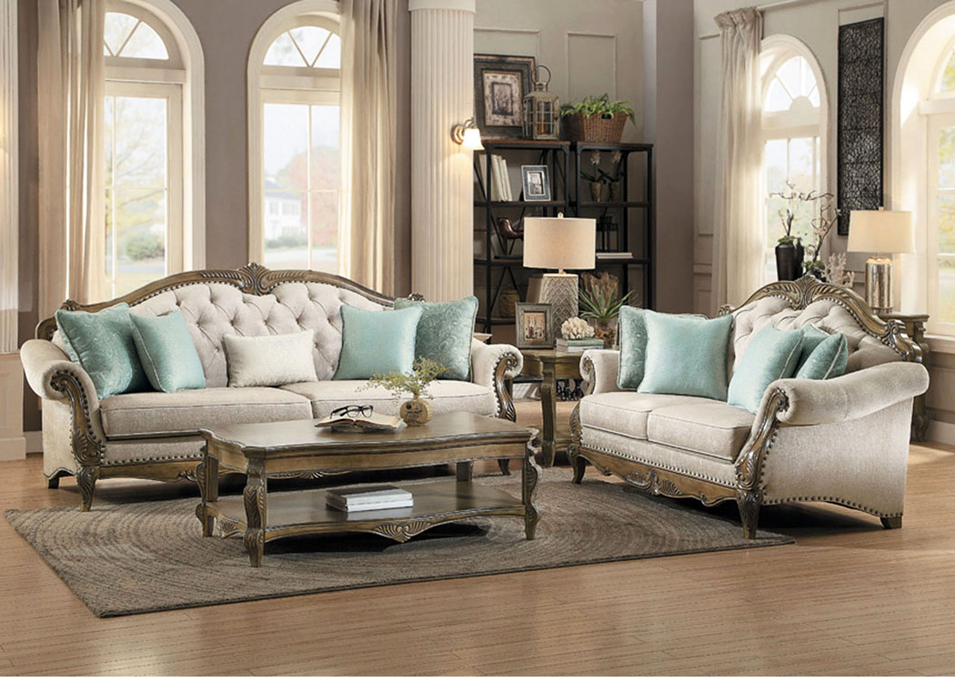 Sofa w/4 Pillows (Pick Up Only),Homelegance