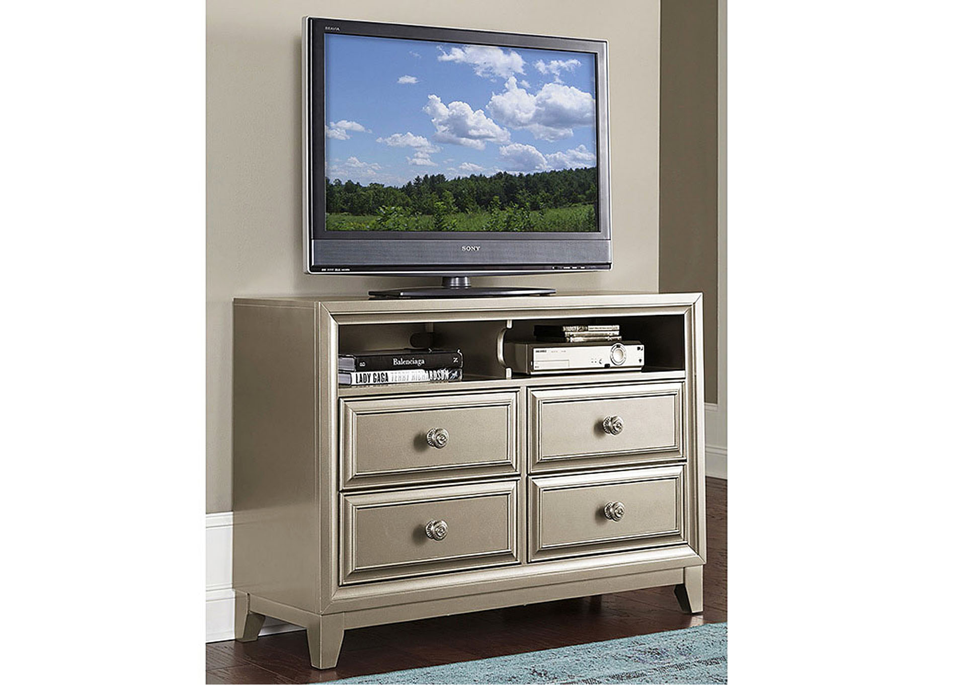 Hedy Silver TV Chest,Homelegance