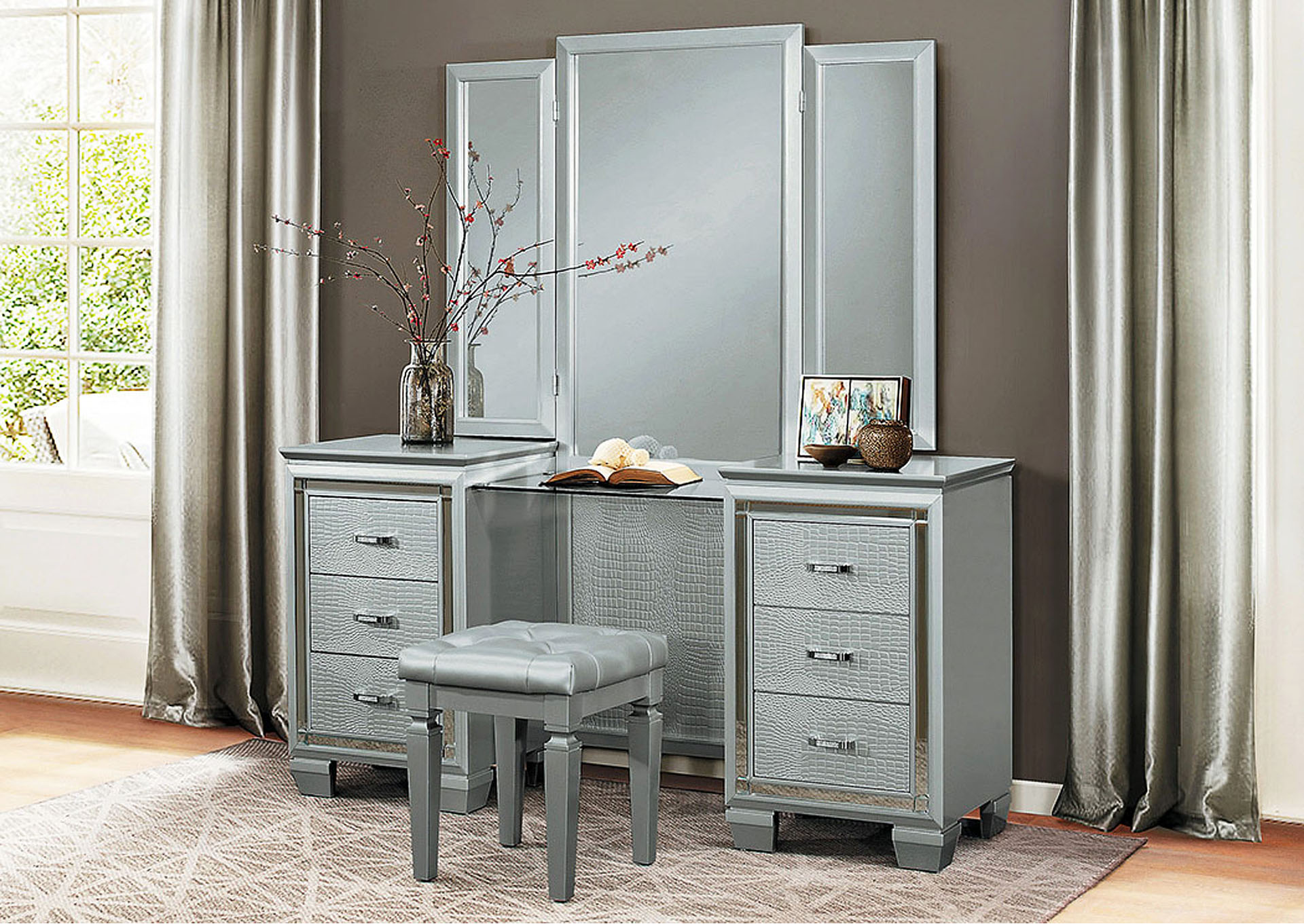 Vanity Set w/Mirror,Homelegance