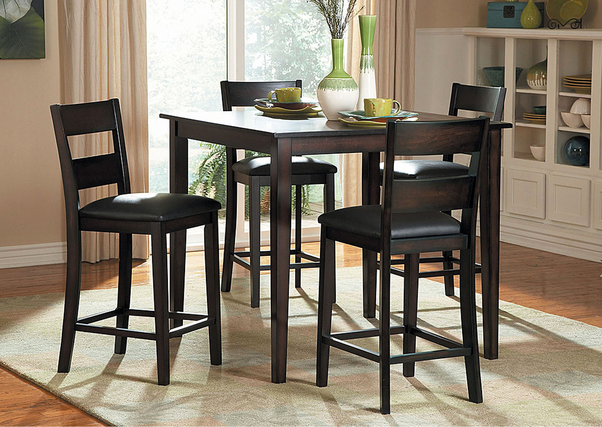Griffin Counter Height Dining Table Set W/4 Side Chairs,Homelegance