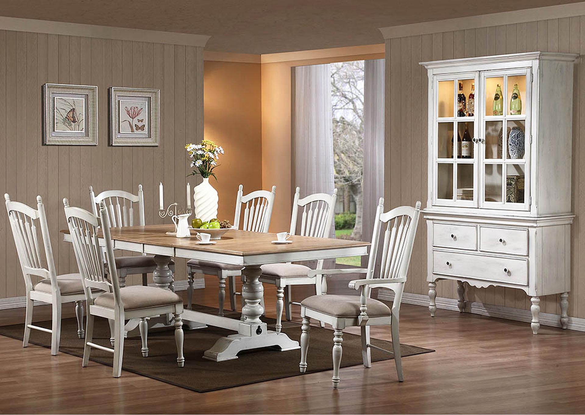 Palace Furniture Hollyhock White Distressed Oak Rectangular