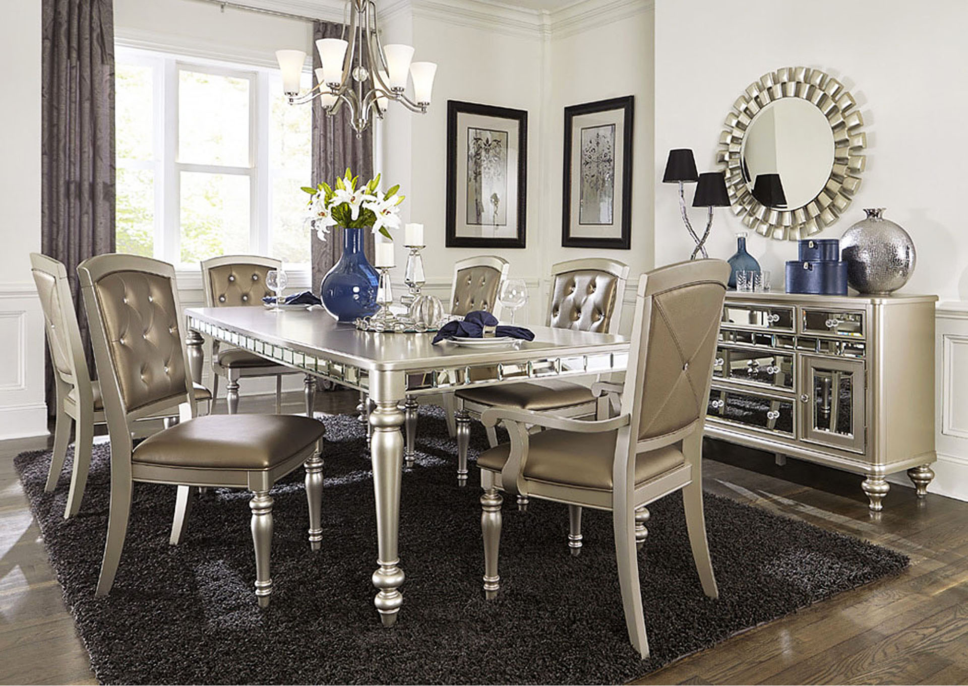 Dining Table w/4 Side Chairs,Homelegance