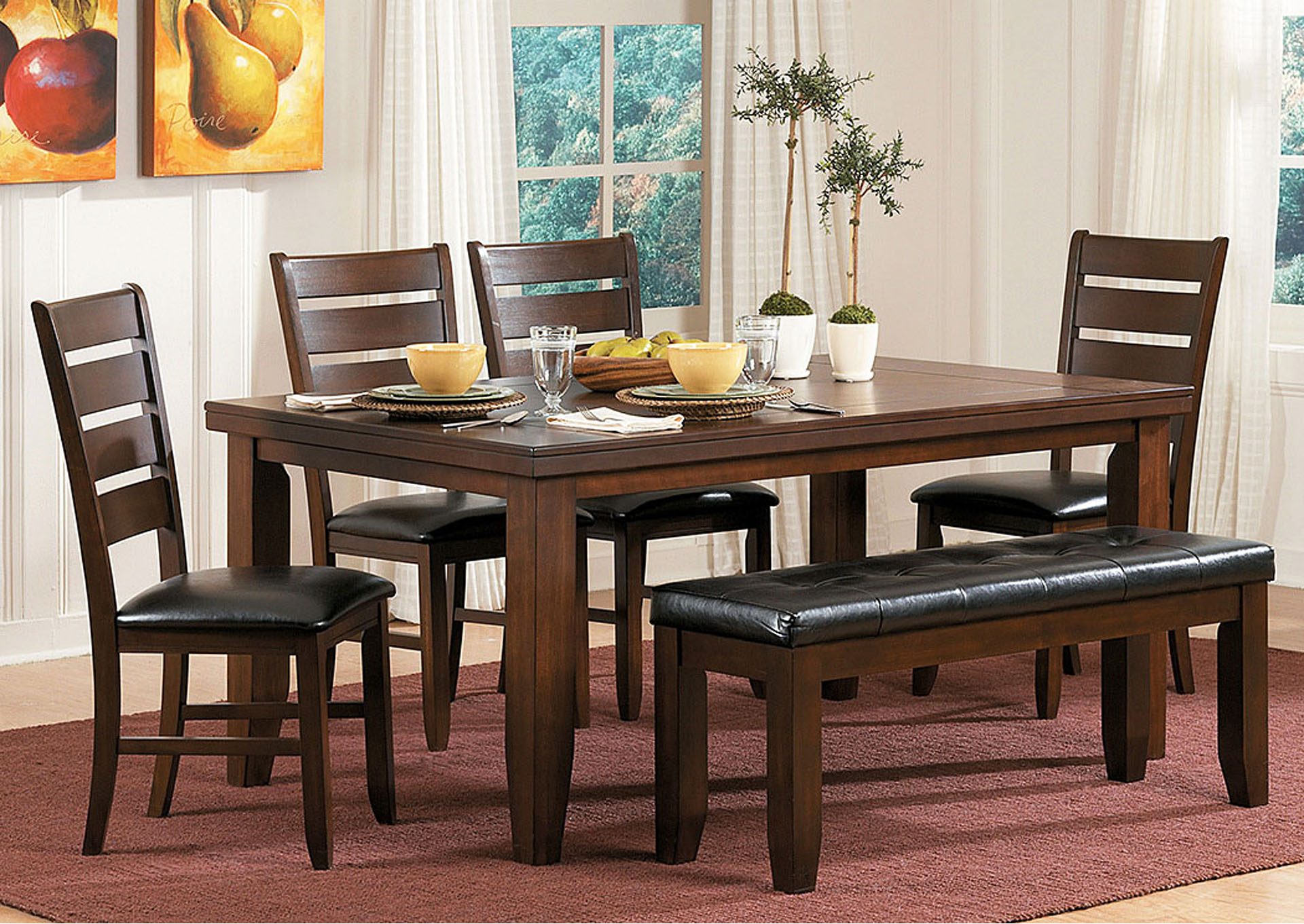 Ameillia Rectangular Dining Table,Homelegance