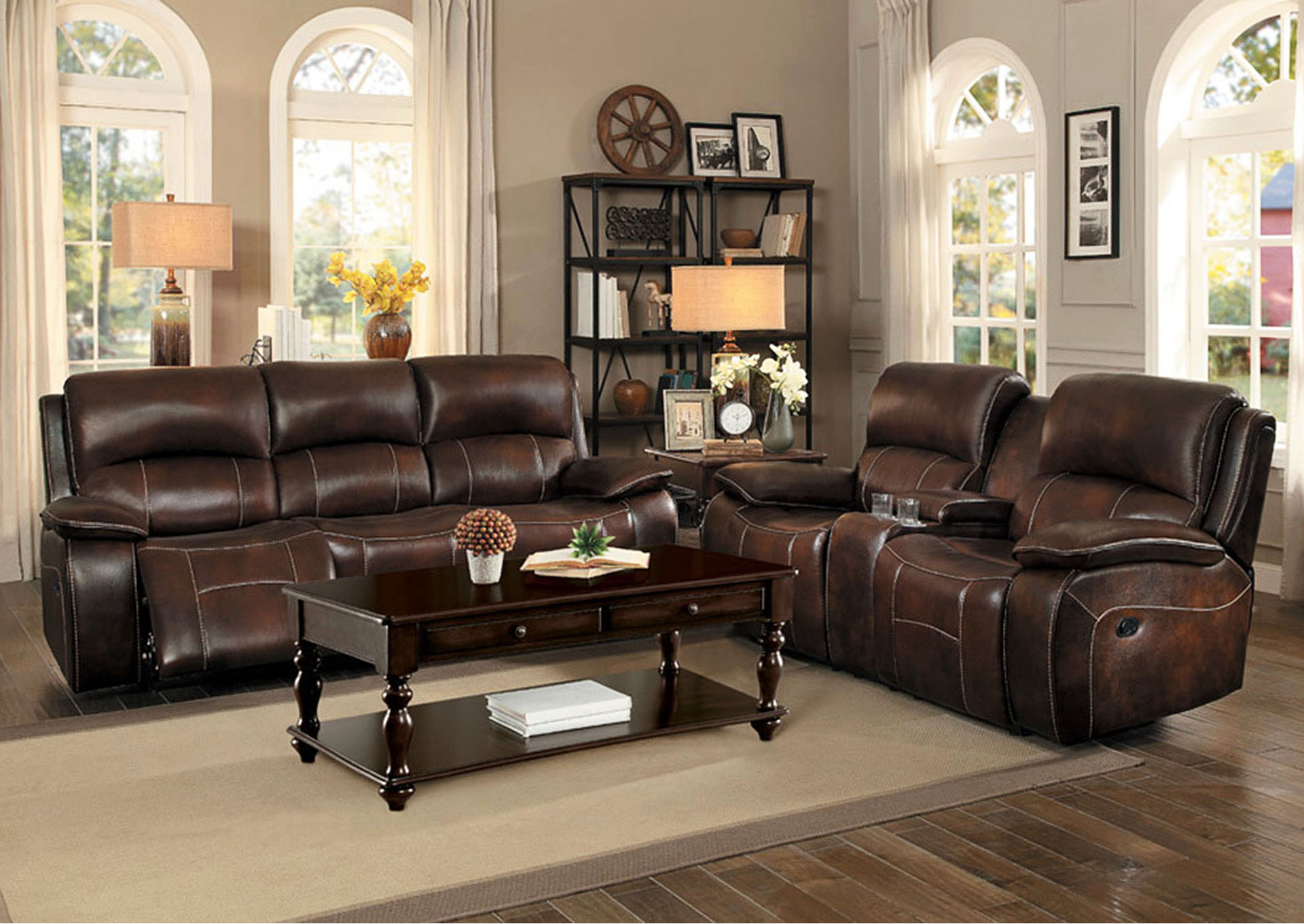 Power Double Reclining Sofa,Homelegance
