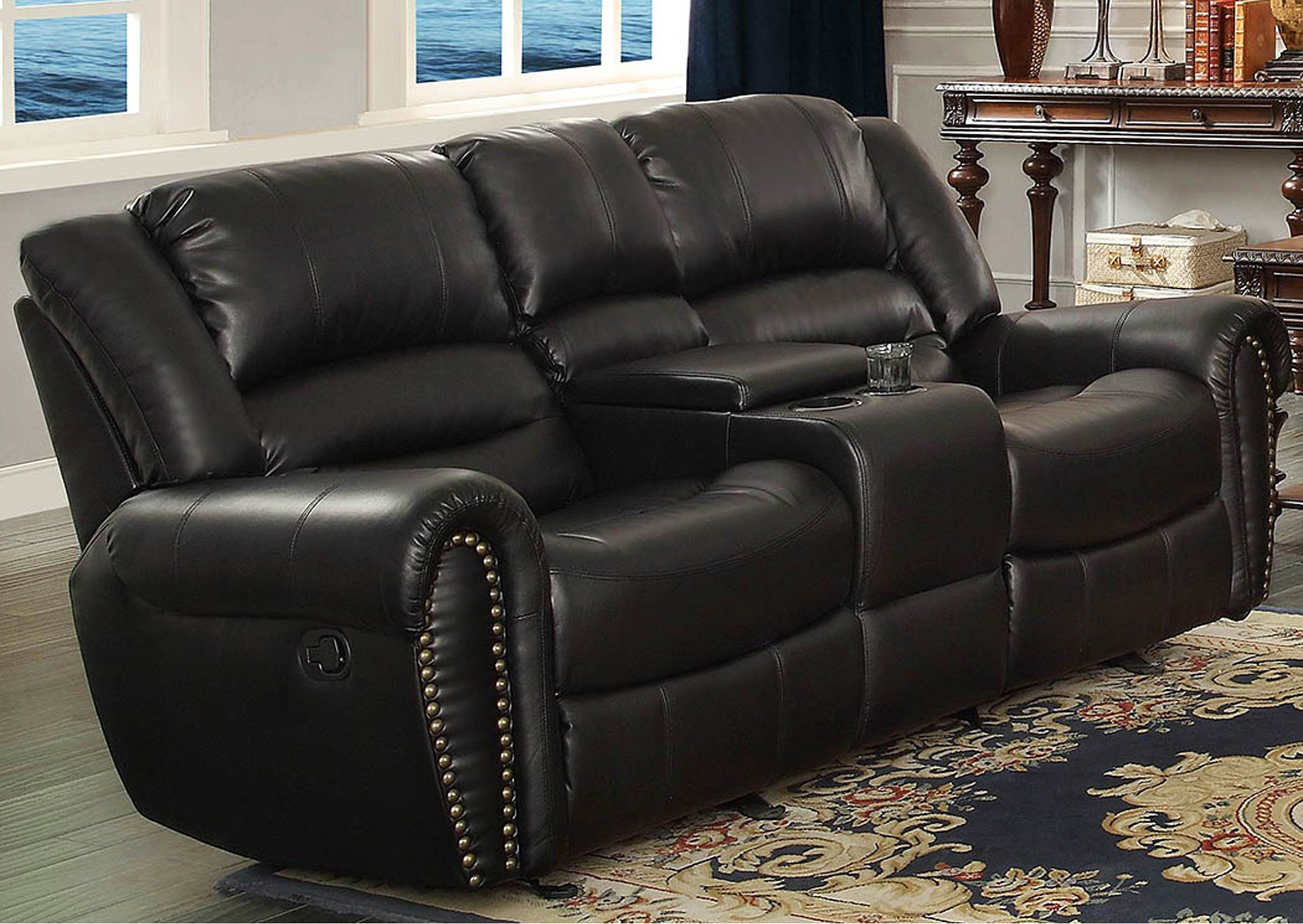 DFW Furniture Warehouse CA Center Hill Black Power Double