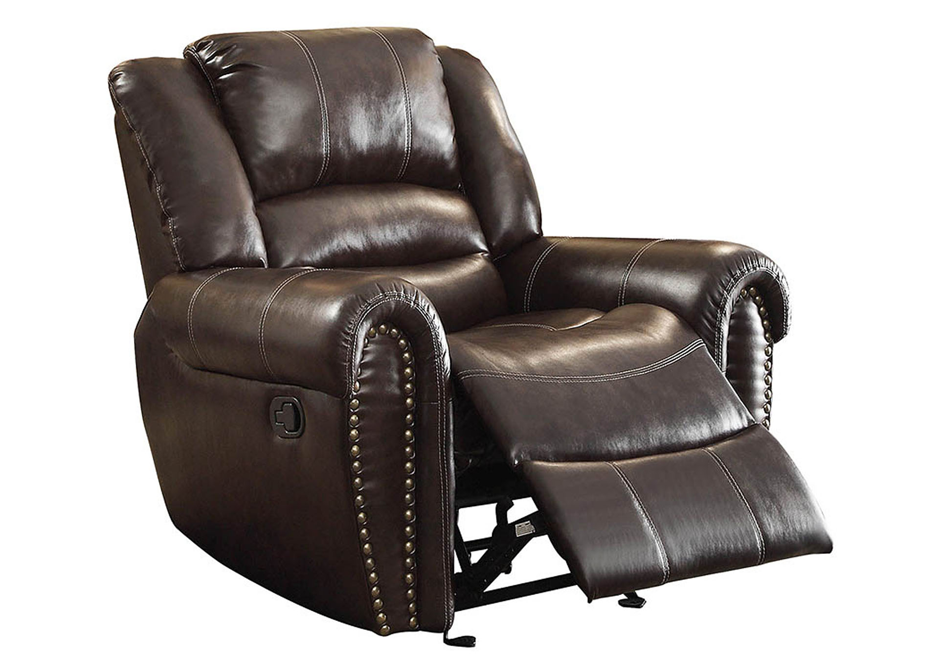 Dfw Furniture Warehouse Ca Center Hill Dark Brown Glider