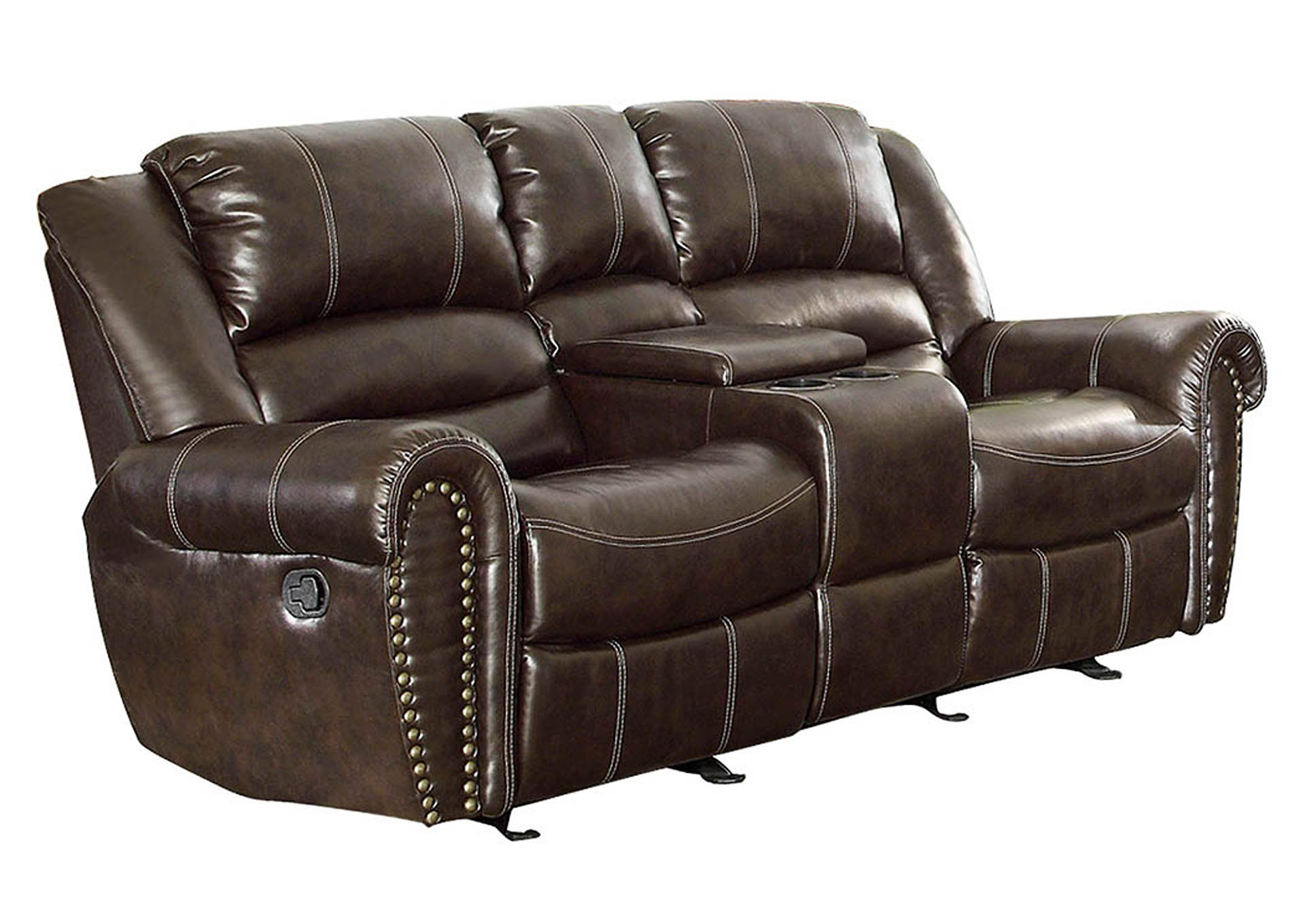 Wine Country Furniture Center Hill Dark Brown Double
