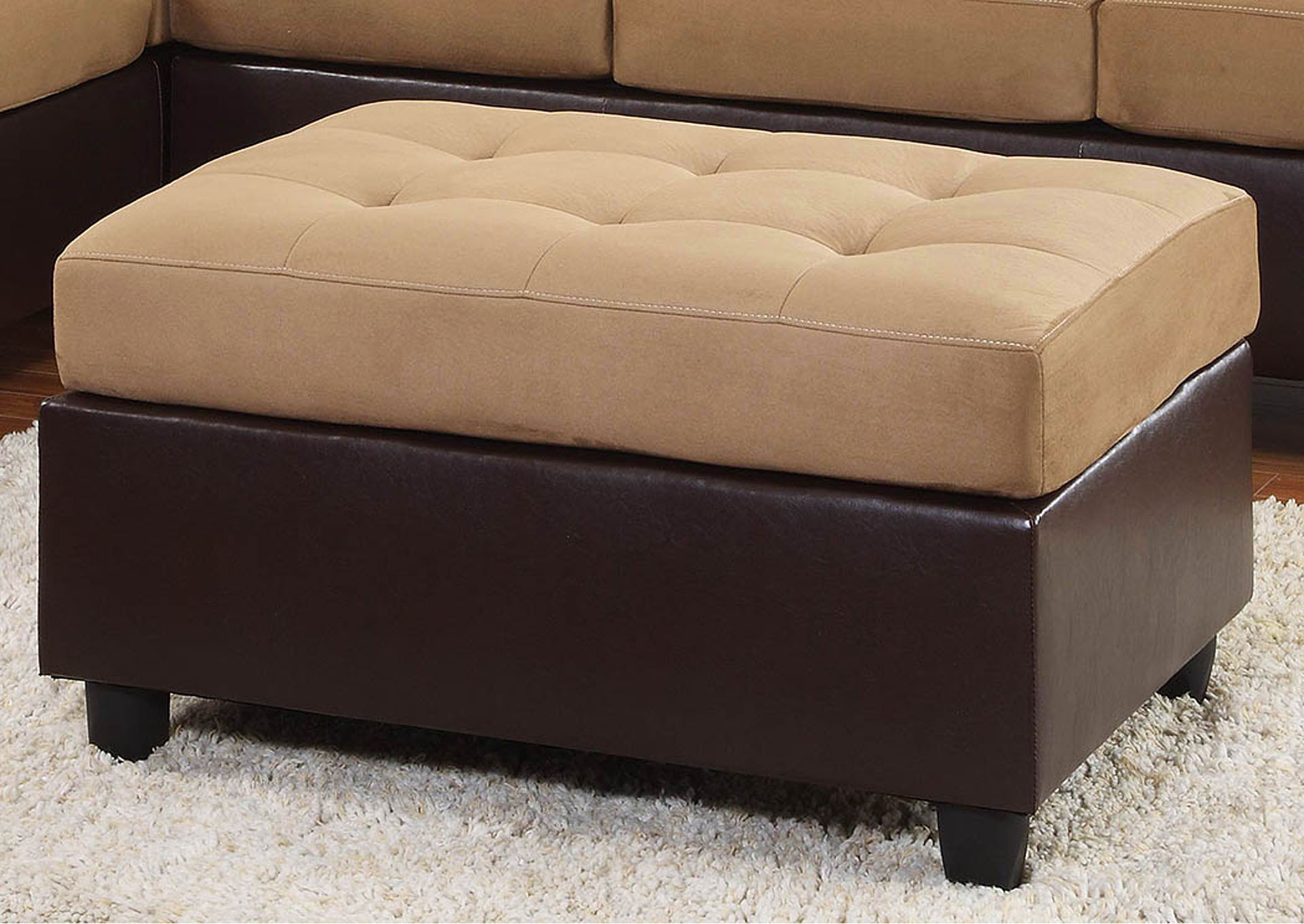 Apex furniture comfort living brown dark brown ottoman for Comfort living furniture