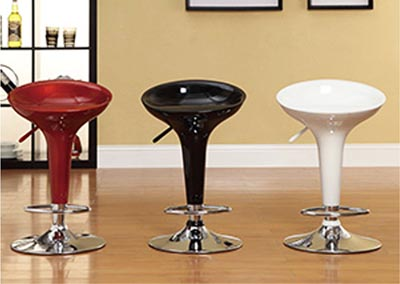 Ride Airlift White Swivel Stool