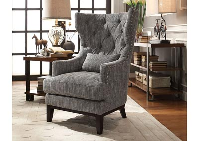 Adriano Gray Accent Chair