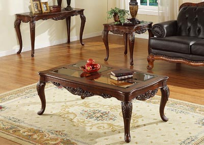 Ella Martin Warm Brown Cherry Square End Table