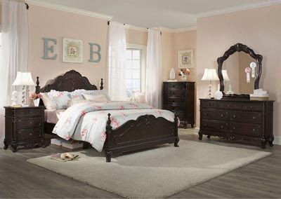 Cinderella Dark Cherry Queen Poster Bed