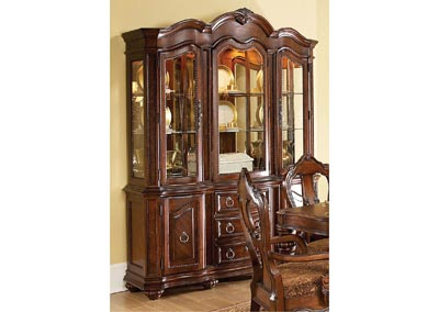 Prenzo Warm Brown Buffet and Hutch