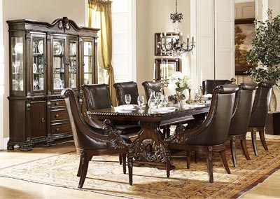Orleans Rich Dark Cherry Buffet and Hutch