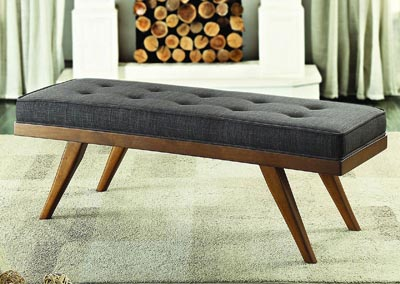 Dark Grey Fabric Bench