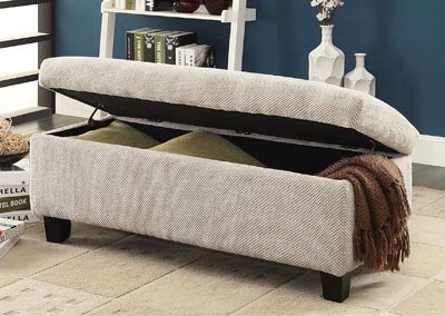 Clair Grey Lift Top Storage Bench,Homelegance