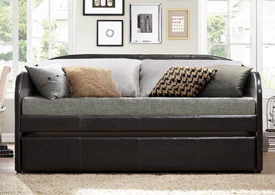 Roland Dark Brown Daybed w/Trundle