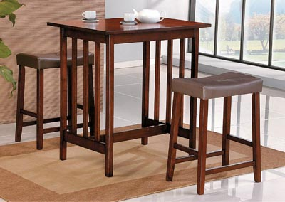 Scottsdale Cherry 3 Piece Counter Height Set w/2 Counter Height Stools