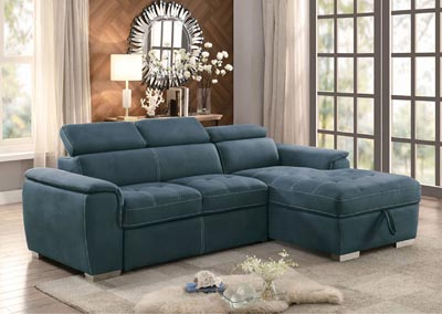 Sectional w/Pull-Out Bed & Hidden Storage