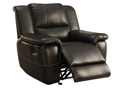 Cantrell Black Glider Reclining Chair
