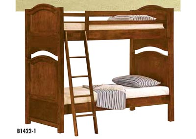 Aris Warm Brown Cherry Full Bunk Bed
