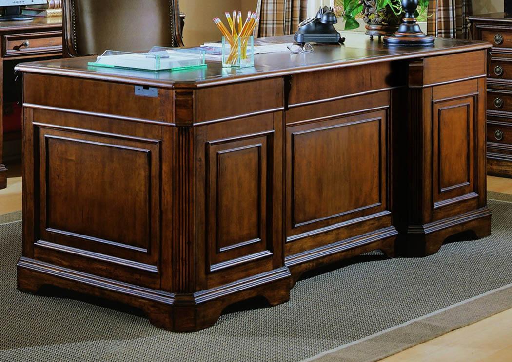 Brookhaven Executive Desk (Wood Top),Hooker Furniture