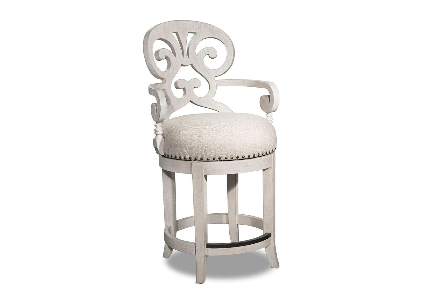Mimosa Cottage Fabric Counter Stool,Hooker Furniture
