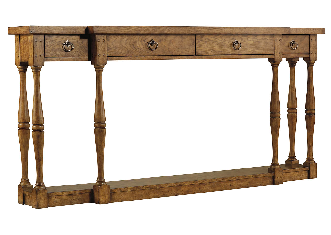 Sanctuary Four Drawer Thin Console Table,Hooker Furniture