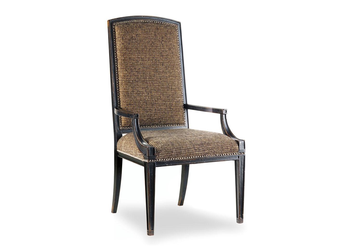 Sanctuary Gold/Black Tweed Mirage Arm Chair (Set Of 2),Hooker Furniture