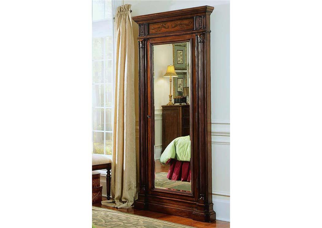 Hooker Floor Mirror W/Jewelry Armoire Storage,Hooker Furniture