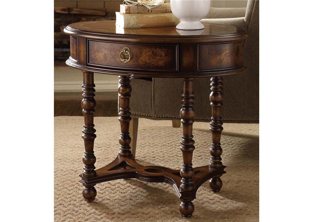 Hooker Oval Side Table,Hooker Furniture