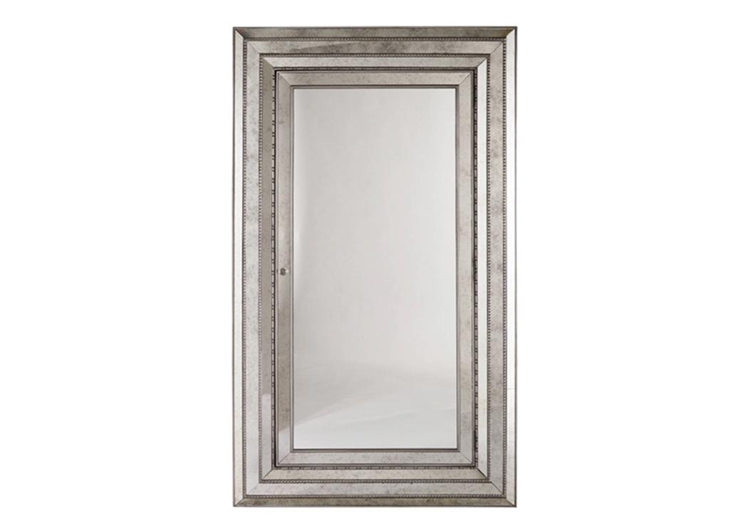 Ivan Smith Melange Glamour Floor Mirror wJewelry Armoire Storage