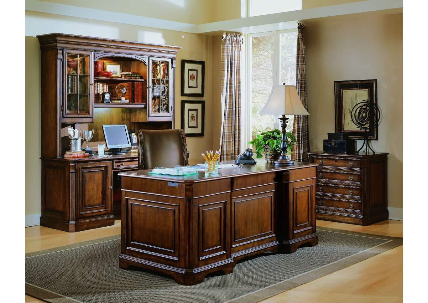 Brookhaven Credenza W/ Hutch,Hooker Furniture