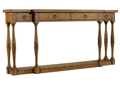 Sanctuary Four-Drawer Thin Console Table