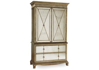 Sanctuary Gold Leaf Armoire