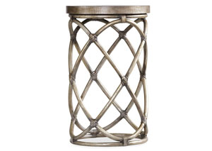 Melange Rattan Accent Table