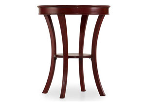 Melange Red Semblance Accent Table