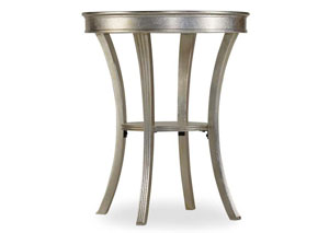 Melange White Semblance Accent Table