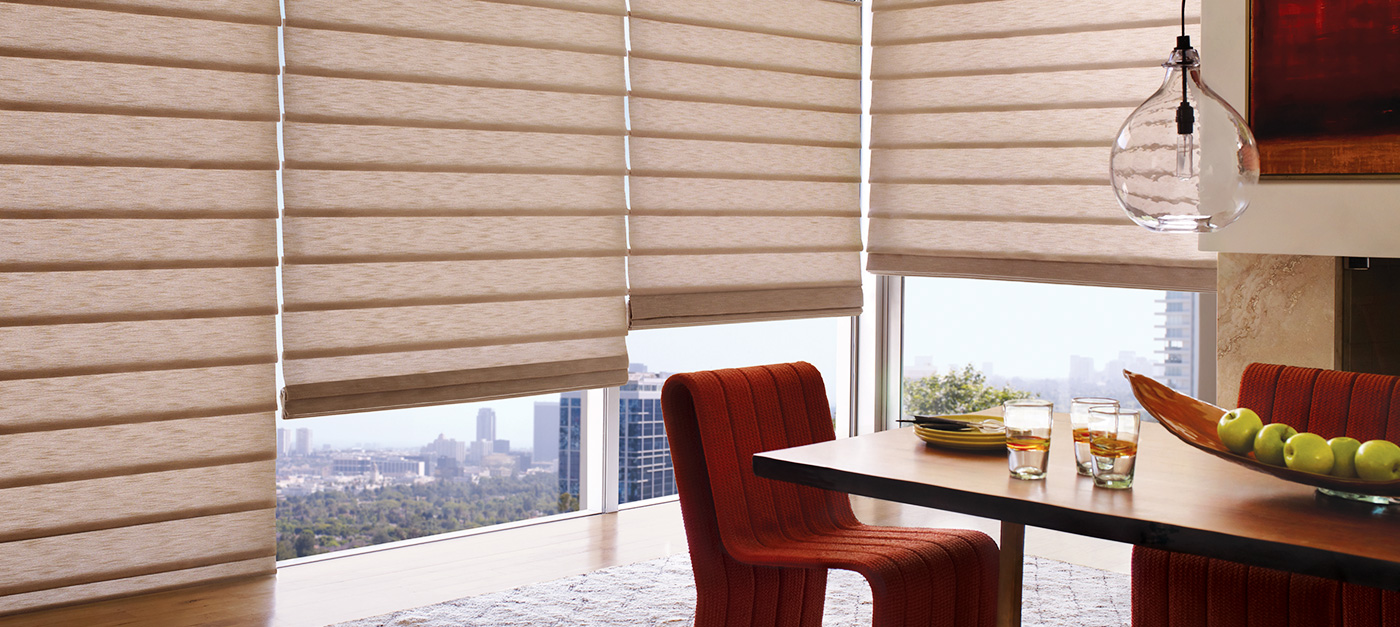 Creative window coverings alustra vignette for Hunter douglas exterior sun shades