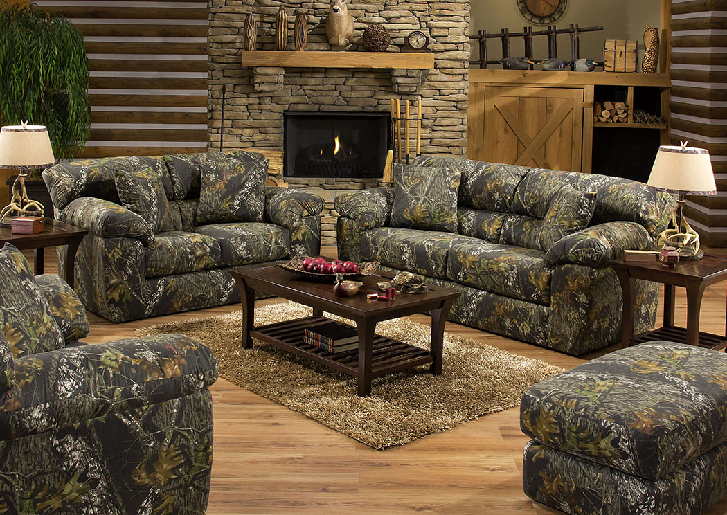 Big Game Mossy Oak Sofa, Loveseat & Chair w/ Ottoman,Jackson