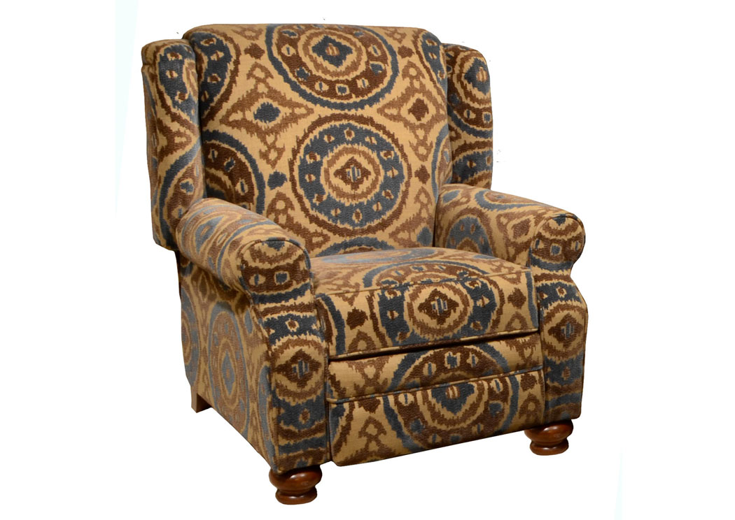 Jarons Belmont Peacock Reclining Chair