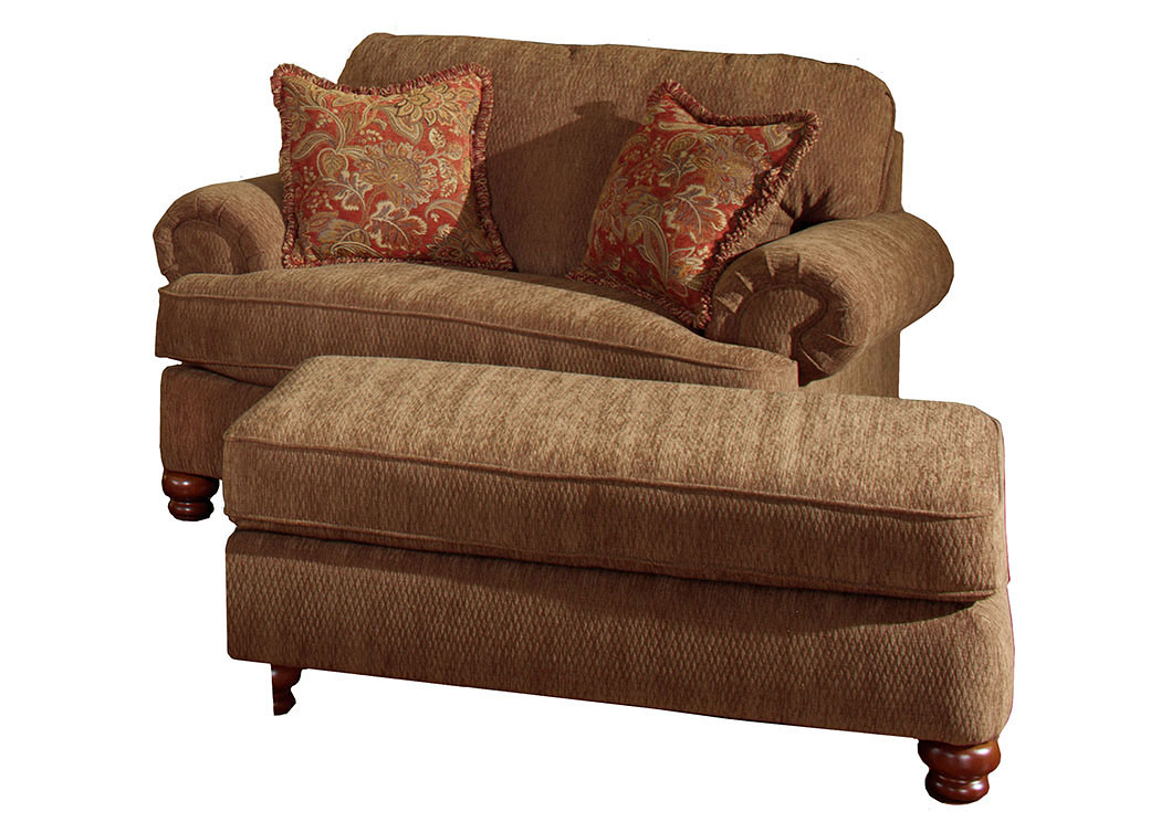 Living Room Suite Round Ottoman Large