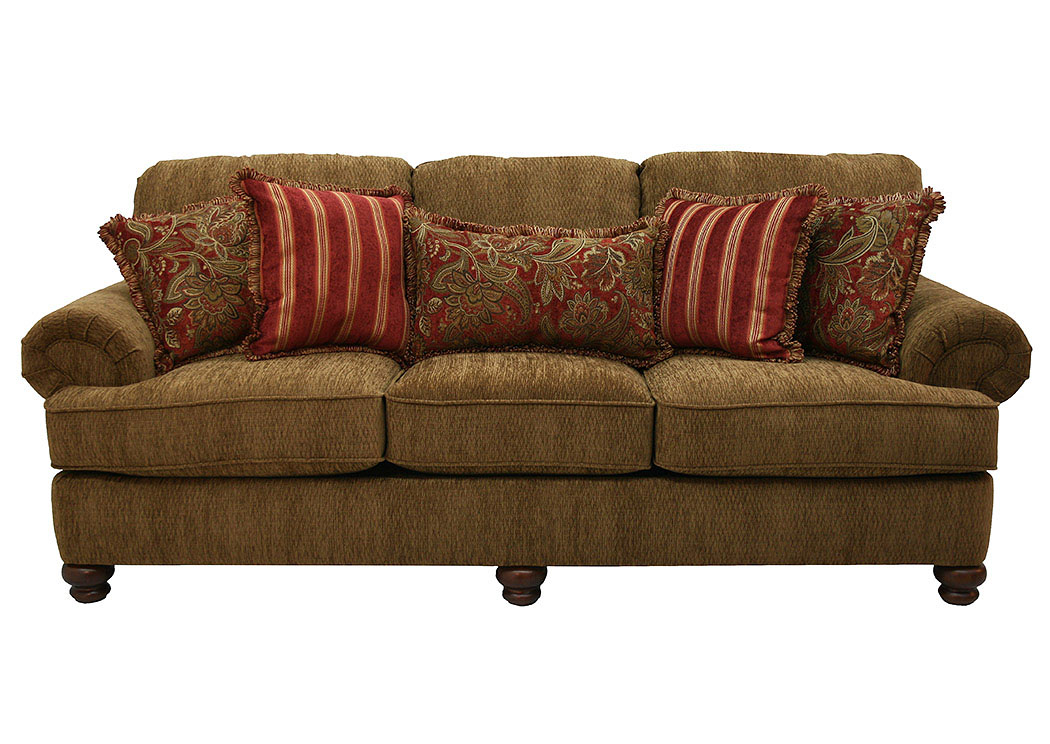 Belmont Umber Sofa U0026 Red Reclining Chair,Jackson