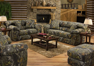 Big Game Mossy Oak Sofa, Loveseat & Chair w/ Ottoman