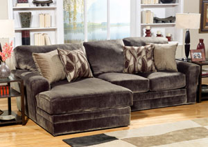 Everest Chocolate Chaise-End Sectional