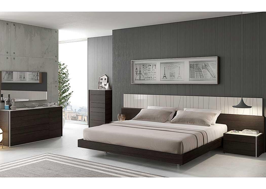 Best buy furniture and mattress porto queen bed dresser for Mirror queen bed