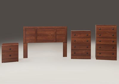 Cherry 4 Drawer Chest