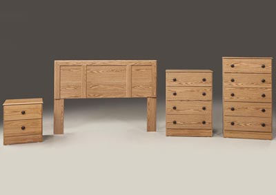 Oak 5 Drawer Chest
